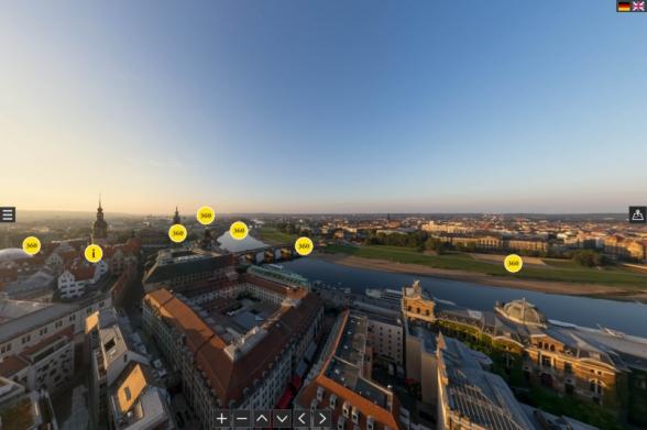 360°-Panoramarundgang durch Dresden