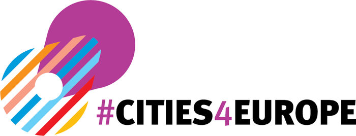 "Logo with the title ""Cities for Europe"""