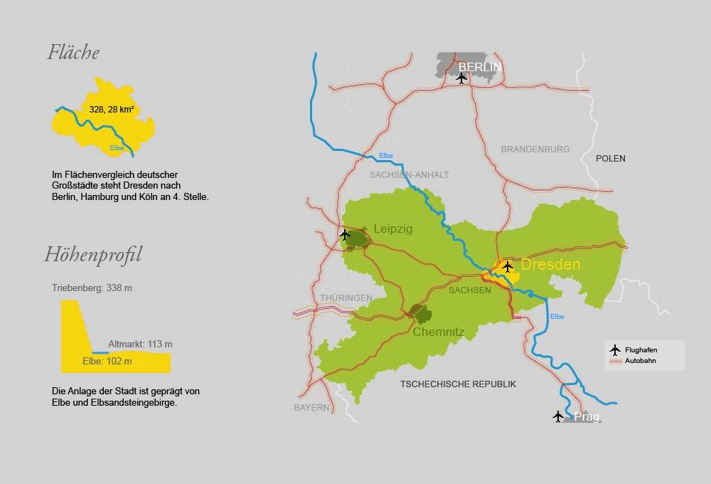Lage Flache Geografische Daten Statistik Landeshauptstadt