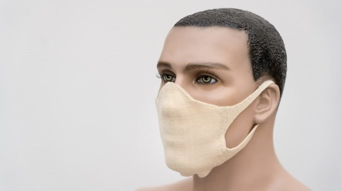 Ready-made textile 3D knitted mouth-nose mask