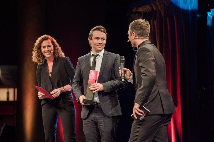 "Christian Piechnick receives the German Startup Award in the category ""Best Newcomer"""