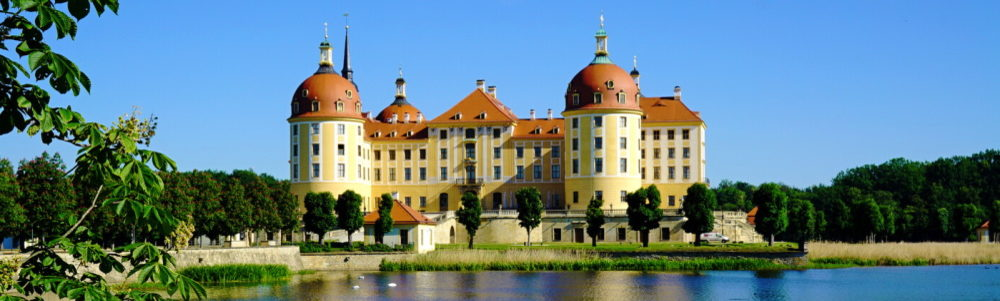 Moritzburg Castle with castle pond